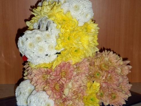 Львёнок из хризантем