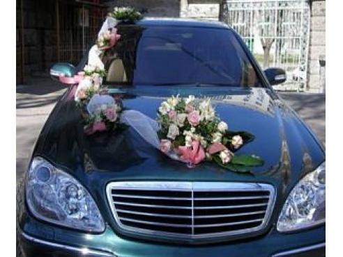 Свадебное украшение на капот и крышу авто