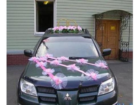 Комплект украшений на свадебную машину